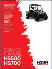 Hisun HS500 HS700 ( HS500UTV / HS700UTV ) UTV Service Manual CD -- HS 500 700