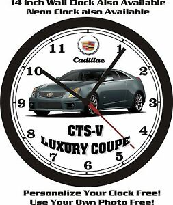 2013 CADILLAC CTS-V LUXURY COUPE WALL CLOCK-FREE USA SHIP!