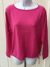 Polo Ralph Lauren womens silk cotton sweater top shirt pink medium $99 nwt
