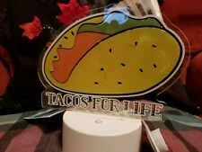 "Tacos For Life"" Led by Room Essentials, battery operated"
