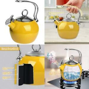 Aidea Tea Kettle, 1.7 Quart Whistling Enamel Stainless Steel Teakettle Tea Pot F
