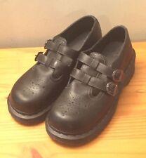 Dr. Martens Nancie T-Bar Brogue Black Leather Shoes Womans sz 9 / 41 Orig $100
