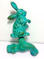 Vintage Brass Rabbit Garden Hose Faucet Spigot made in USA Rare