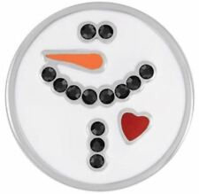 """4 Get 1 $6.95 Snap Free Ginger Snaps Jewelry """"White Snowman� Sn19-27 Buy"""