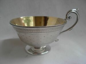ANTIQUE FRENCH STERLING SILVER COFFEE CUP,LOUIS 16 STYLE,LATE 19th.