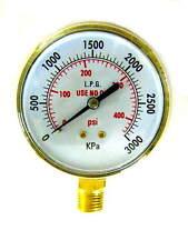 "3 INCH, Acetylene/propane Regulator Gauge, High Pressure, 1/4""-18NPT"