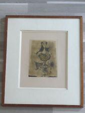 FRIEDLÄENDER Johnny Gravure originale signée Deux oiseaux III 1956 Engraving