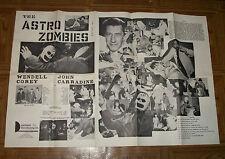 original THE ASTRO ZOMBIES PROMTIONAL MATERIAL John Carradine Tura Satana