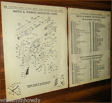 1964 Smith & Wesson Revolver Exploded View~Parts List~Military Police Model 12 +