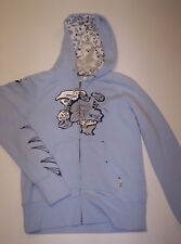 Volcom Zip-up Sweatshirt Baby Blue Medium Brand New