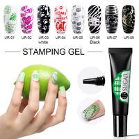 UR SUGAR 8ml Stamping Gel Colorful Soak Off Gel Polish for Nail Art Stamp Plates