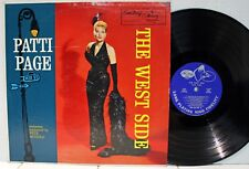 Rare Pop LP - Patti Page - The West Side - EmArcy # MG 36136