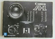 ORIGINAL 1979 Canon A-1 Camera Instructions Owners Manual
