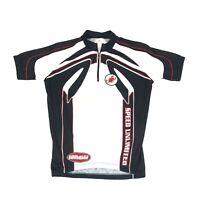 Castelli Men's White Short Sleeve Cycling Jersey Speed Unlimited Size Medium