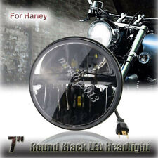 7'' Round Motorcycle Black LED Headlight Projector For Harley Jeep Wrangler JK