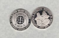 1975 PARTNERS IN SPACE/APOLLO HALLMARKED SILVER MEDAL IN NEAR MINT CONDITION