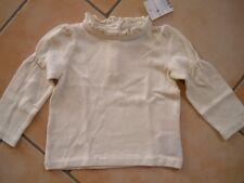(X157) Süßes Polo Ralph Lauren Baby Langarm Shirt + Knopfleiste & Rüschen gr.80
