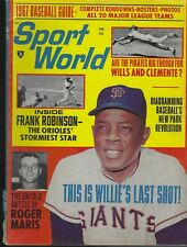 June 1967 Sport World Magazine - Willie Mays San Francisco Giants HOF Outfielder