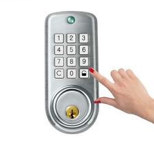 Keyless Deadbolt Electronic Door Lock Keypad Digital Codes Door Entry Kit