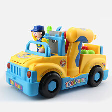 Best Toy Gift Kids Truck Toys with Electric Drill Screwdriver and Various Tools
