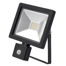 LYVIA 20W LED Slim PIR Floodlight Security Light Deterrent 1600 Lumens (Black)