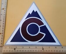 "HUGE COLORADO AVALANCHE IRON-ON PATCH - 7.5"" x 9"""