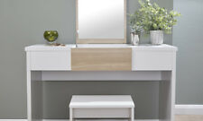 Marlow Vanity Dressing Table With Stool & Lift Up Mirror Dresser Bedroom Storage