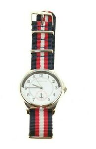 RED HERRING ST 40MM RED AND BLUE STRIPE WATCH MENS GIFT IDEA PRESENT NEW
