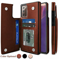 Samsung Note 20 S20 Ultra Leather Case Card Holder Magnetic Flip Wallet Cover