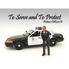 POLICE OFFICER II FIGURE FOR 1:18 SCALE MODELS BY AMERICAN DIORAMA 24012