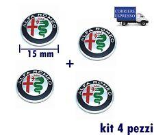 LOGO  CHIAVE  ALFA ROMEO MITO GIULIETTA STEMMA TELECOMANDO 15mm kit 4 pezzi