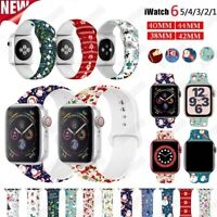 Sport Silicone Watch Band Strap Replacement For iWatch Apple Watch Series 6 SE 5