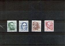 TCHECOSLOVAQUIE 1966 série de 4 timbres anniversaires  de personnalités