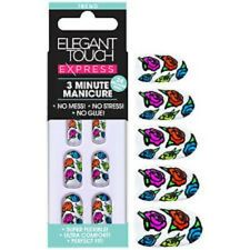 Elegant Touch Express Nails 3 Minute Manicure Pre Glued - Roses