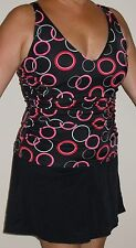Rodan Swimwear 24W Slimming 1-Piece Swimsuit w/Underwire Bra — circles jogger