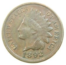 UNITED STATES 1 CENT 1892 INDIAN HEAD PENNY USA SHARP 66# Money Coin