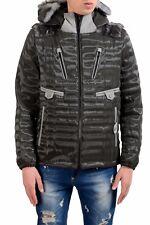 Moncler hombre piel relleno de plumas cremallera completa chaqueta con capucha