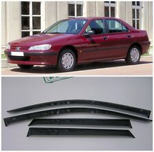 For Peugeot 406 Sd 1995-2005 Side Window Visors Sun Rain Guard Vent Deflectors