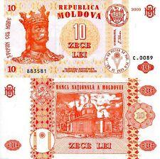 MOLDOVA 10 Leu Banknote World Paper Money UNC Currency Pick p10f King Stephan