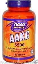 NEW NOW FOODS SPORTS AAKG 3500 POWDER AMINO ACIDS L-ARGININE-ALPHA-KETOGLUTARATE