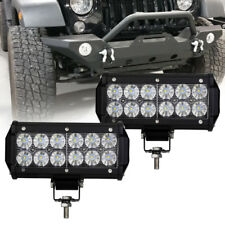 Off Road Bull Bar Front Bumper 7'' inch LED Work Light Driving Fog Lights 2Pcs