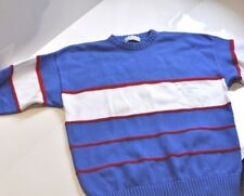 Vintage Lord Jeff 100% fine Cotton nautical yachting sweater Mens XL made in USA