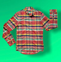 "Lacoste Live Shirt, Multicolour Check, Pit To Pit 17"" Small/Medium 100% Cotton*"