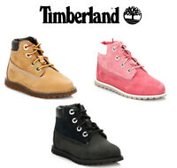 "Timberland Toddler Boots, Black Nubuck, 6"" Premium, Pokey Pine, Kids Shoes"