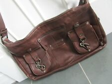 STUART WEIZTMAN Made in SPAIN Brown Soft Leather Shoulder Bag Purse