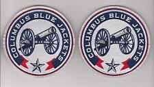 COLUMBUS BLUE JACKETS SHOULDER PATCH LOT OF TWO NEW