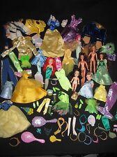 "Mattel Disney Barbie Princess Prince 12"" Doll Clothes Shoes Crown 5"" 7"" Doll Lot"