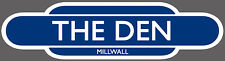 MILLWALL RAILWAY TOTEM FOOTBALL SIGN. INSIDE OR OUTSIDE USE. THE DEN