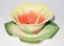 Mustardseed & Moonshine Floral Cup or Bowl & Saucer Set RED/ORANGE