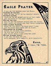 EAGLE PRAYER Shaman Animal Spirit Poster Page Art Native American Celtic Wicca